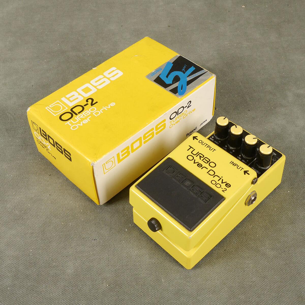 Boss MIJ OD-2 Turbo Overdrive FX Pedal w/Box - 2nd Hand