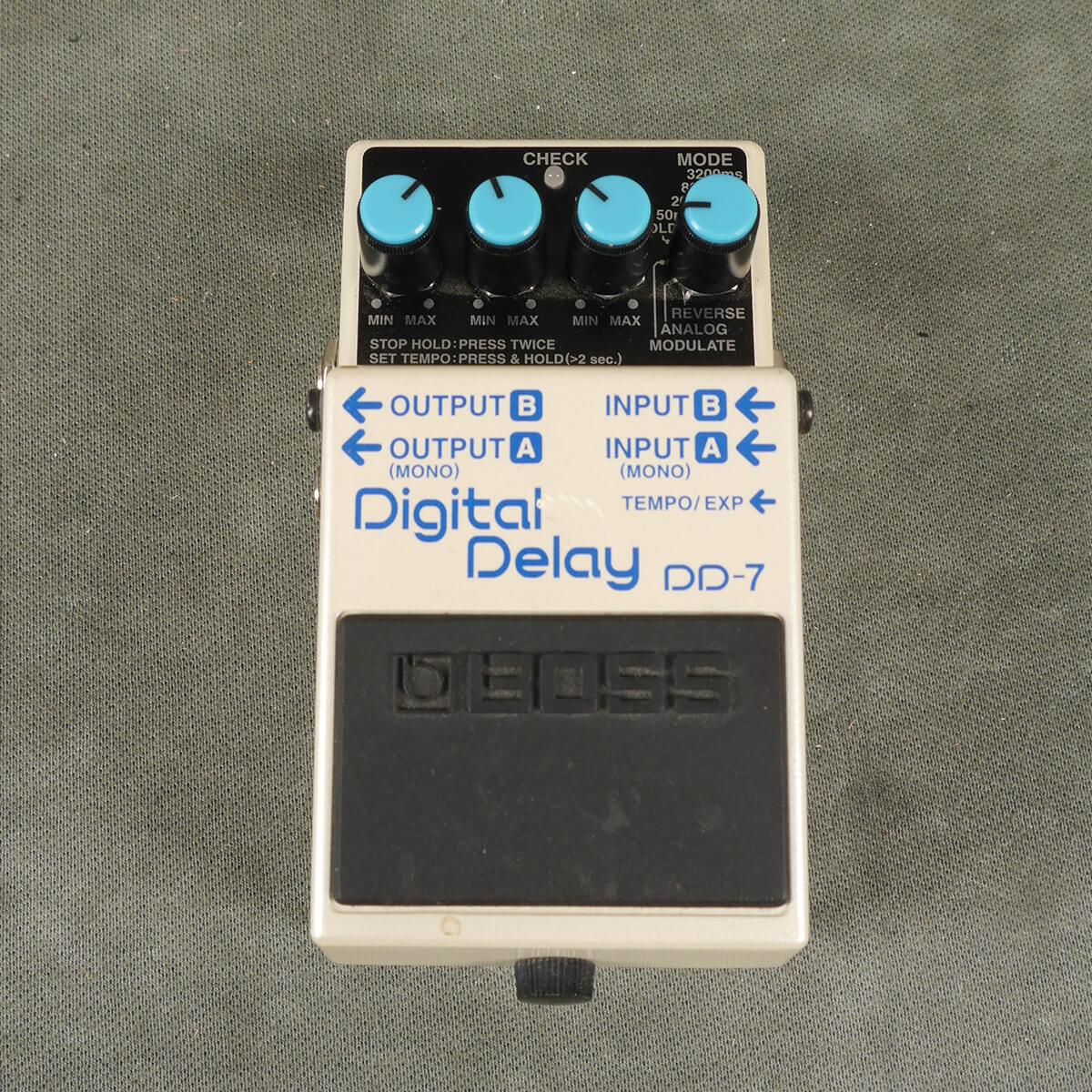 Boss DD-7 Digital Delay FX Pedal - 2nd Hand