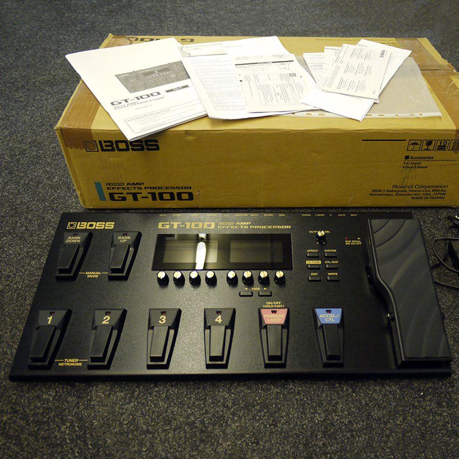 Boss GT-100 COSM Amp Effects Processor w/ Box - 2nd Hand