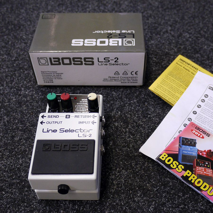 Boss LS-2 Line Selector Pedal w/ Box - 2nd Hand