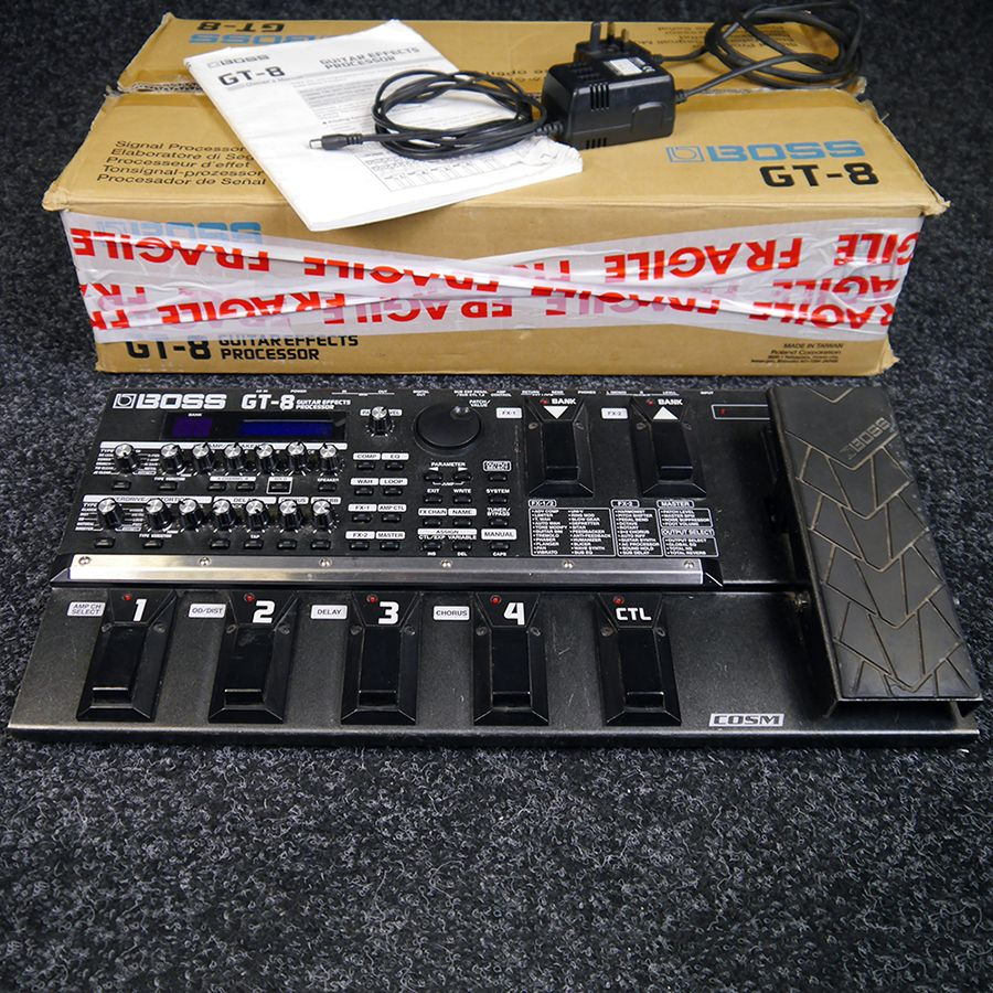 Boss GT-8 Guitar Effects Processor w/ Box - 2nd Hand