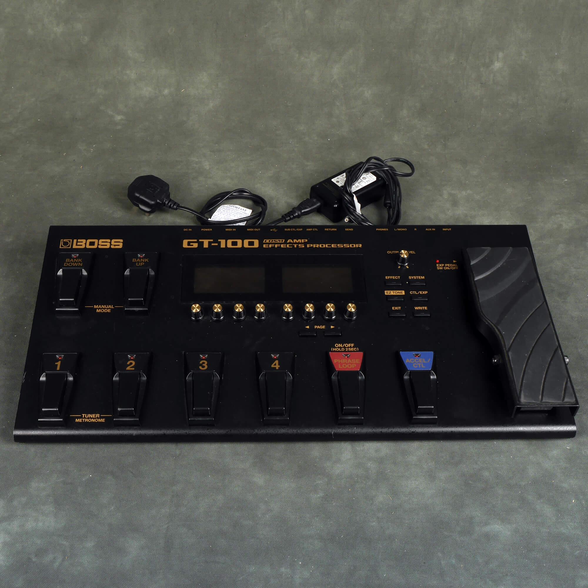 Boss GT-100 Guitar Effects Processor - 2nd Hand