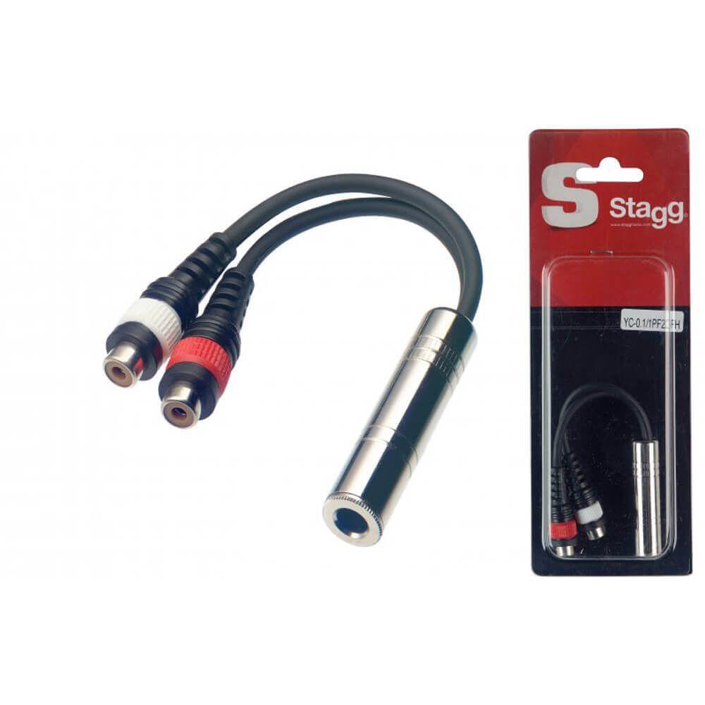 Stagg YC-0,1/1PF2CFH 1 X Female Mono Jack/2 X Female RCA Plug Adaptor