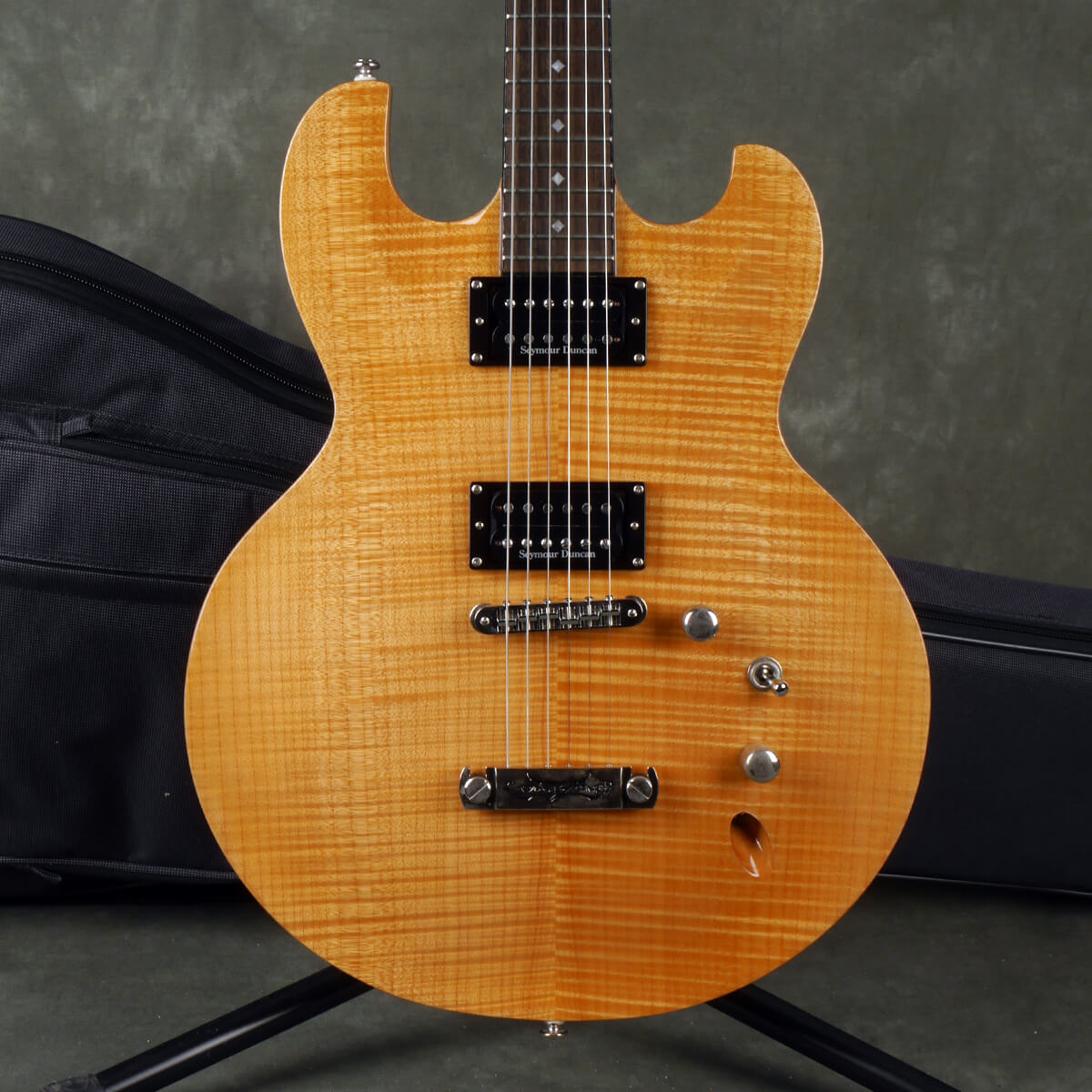 DBZ Imperial FM Electric Guitar - Natural w/Gig Bag - 2nd Hand
