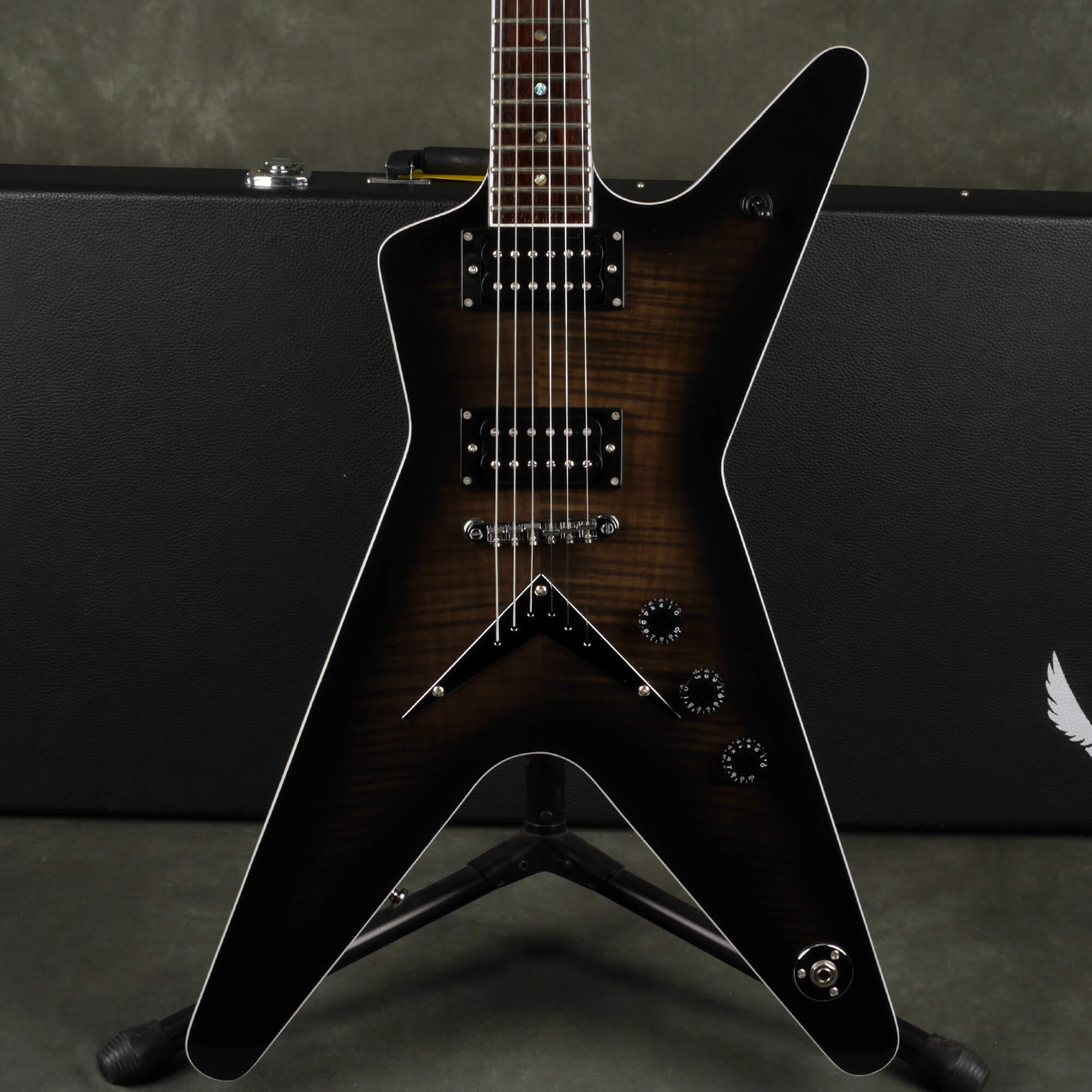 Dean ML 79 Electric Guitar - Trans Black w/Hard Case - 2nd Hand