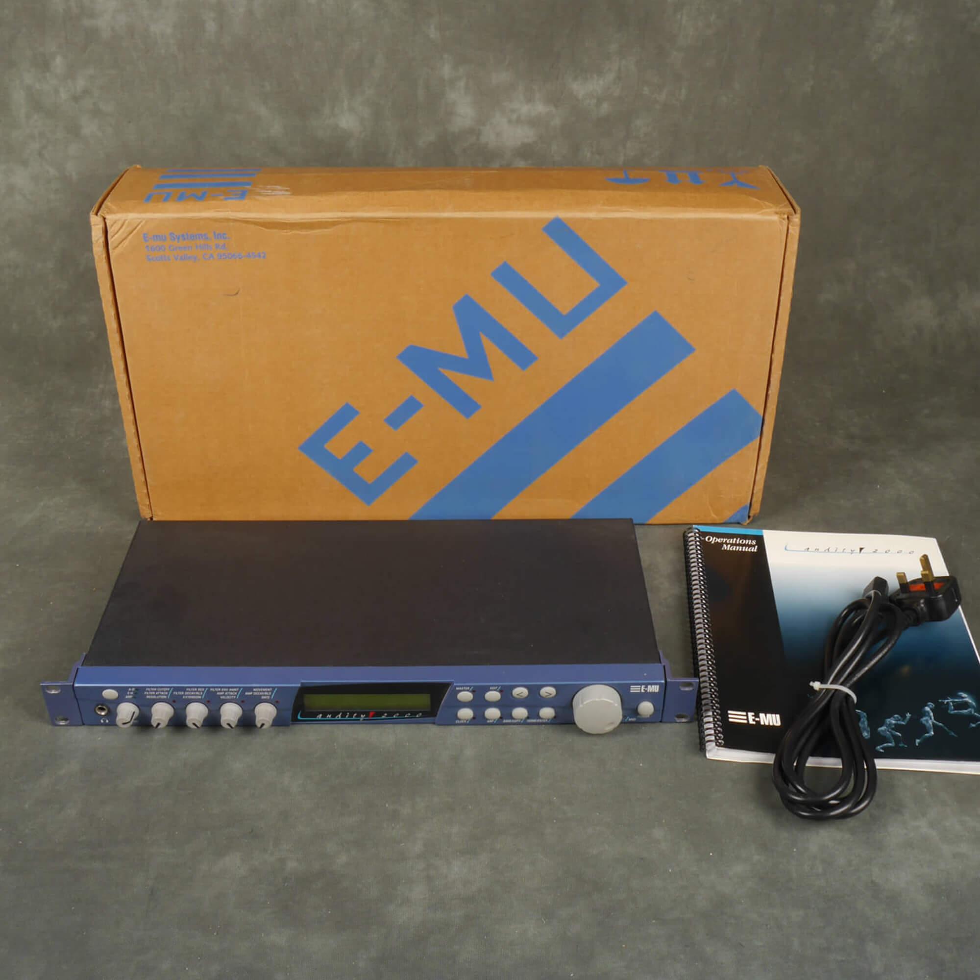 EMU Audity 2000 Sound Module w/Box - 2nd Hand