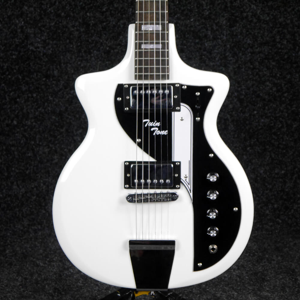 Eastwood Airline Twin Tone Electric Guitar - White - 2nd Hand