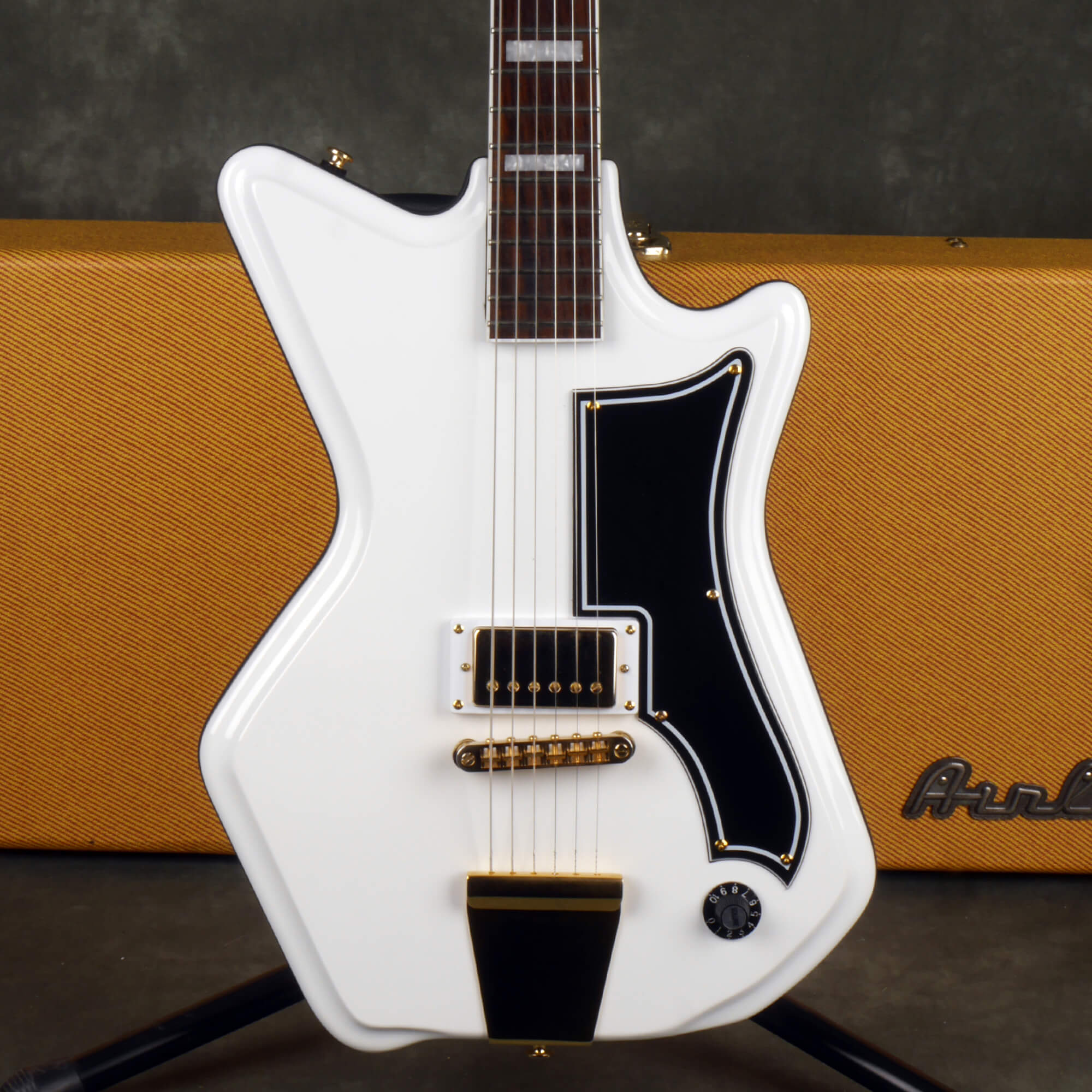 Eastwood Airline 59 1P Electric Guitar - White Ltd Ed w/Hard Case - 2nd Hand