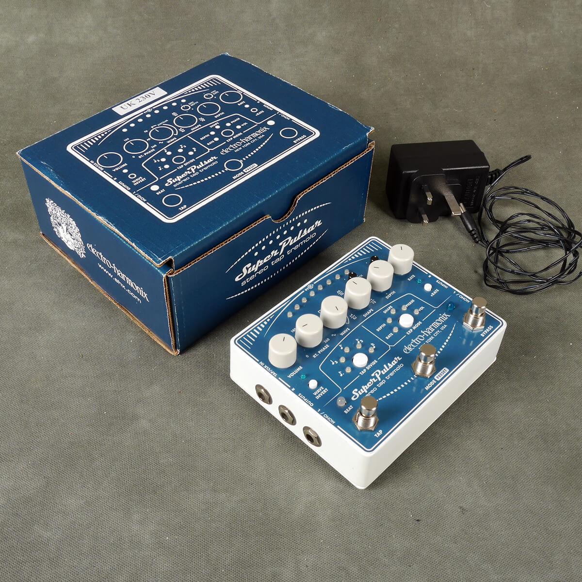 EHX Super Pulsar Tap Tremolo FX Pedal w/Box & PSU - 2nd Hand