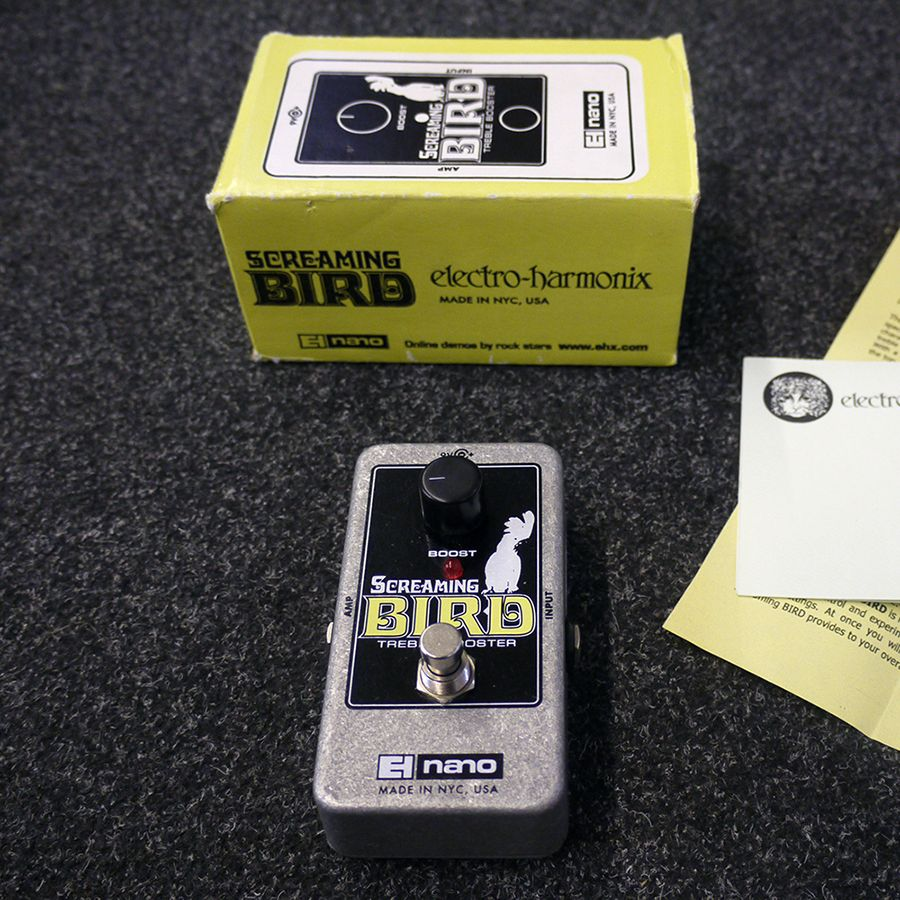 electro harmonix screaming bird fx pedal w box 2nd hand rich tone music. Black Bedroom Furniture Sets. Home Design Ideas