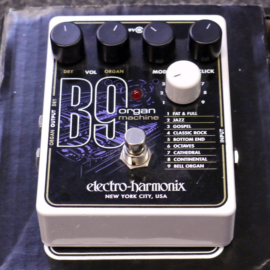 electro harmonix b9 organ machine fx pedal w box 2nd hand rich tone music. Black Bedroom Furniture Sets. Home Design Ideas