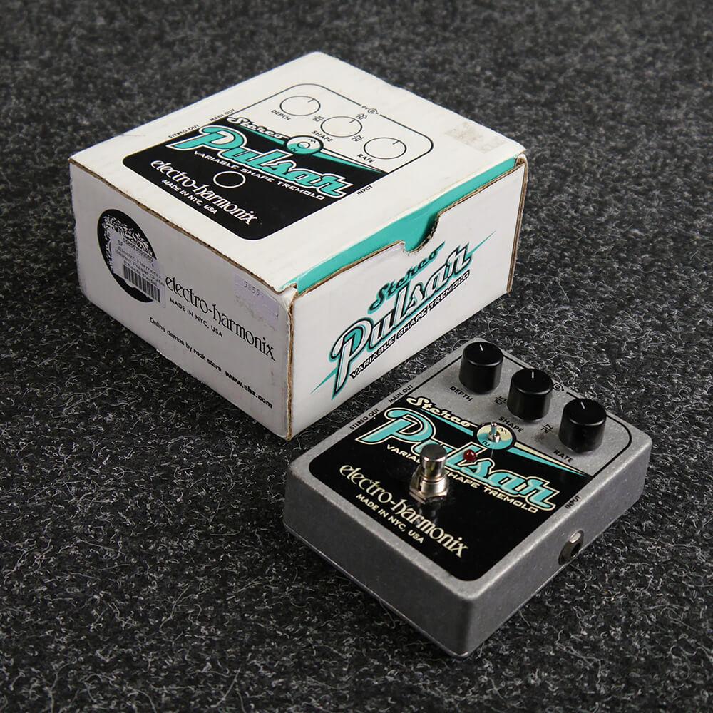 electro harmonix stereo pulsar tremolo fx pedal w case 2nd hand rich tone music. Black Bedroom Furniture Sets. Home Design Ideas
