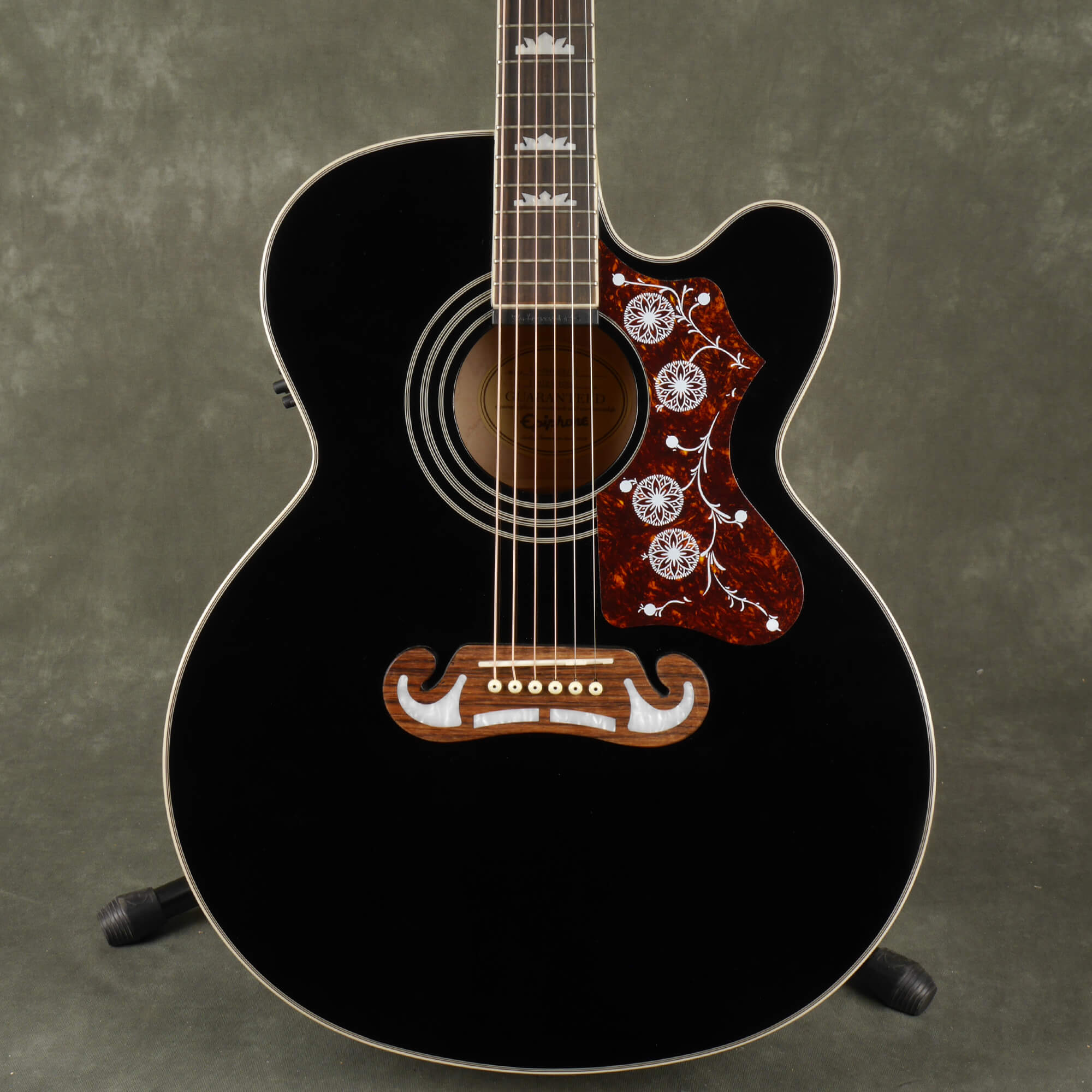 Epiphone EJ-200SCE Electro-Acoustic Guitar - Black - 2nd Hand