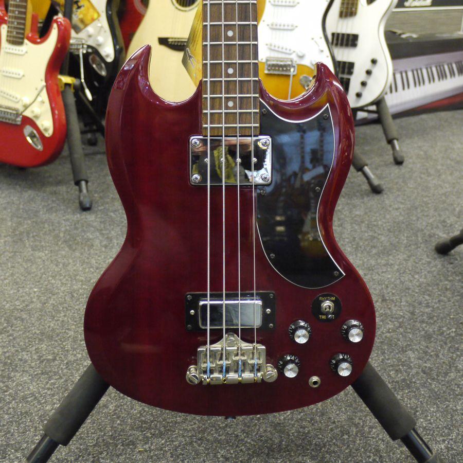 eb0 replica bass guitar cherry 2nd hand rich tone music. Black Bedroom Furniture Sets. Home Design Ideas