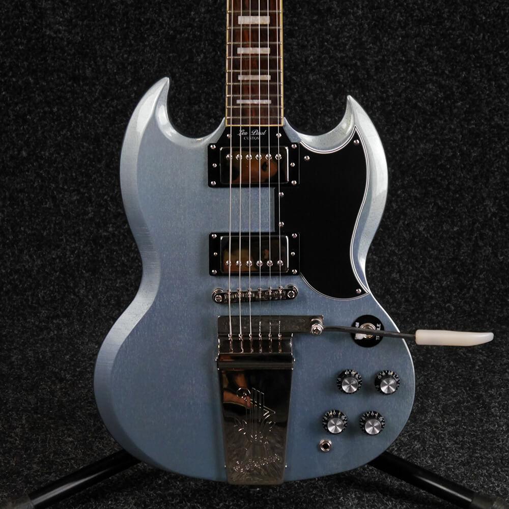 epiphone sg custom maestro vibrola pelham blue 2nd hand rich tone music. Black Bedroom Furniture Sets. Home Design Ideas