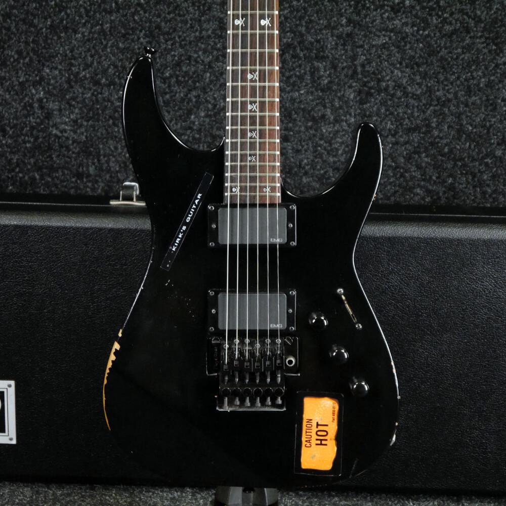 ESP Kirk Hammett KH-2 Vintage, Signed Certificate - Black w/Case - 2nd Hand