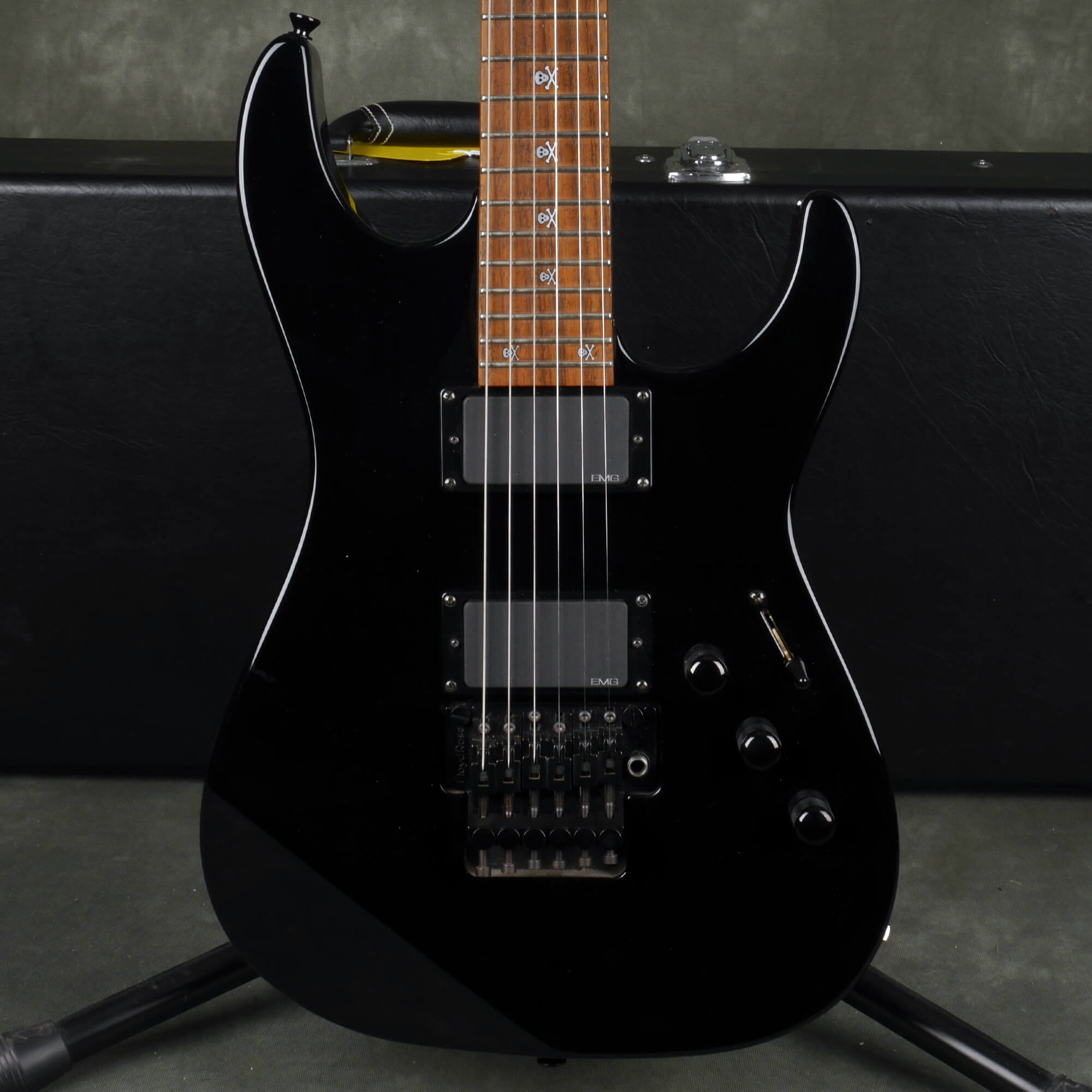 ESP KH-2 Kirk Hammett Signature Guitar - Black w/Hard Case - 2nd Hand