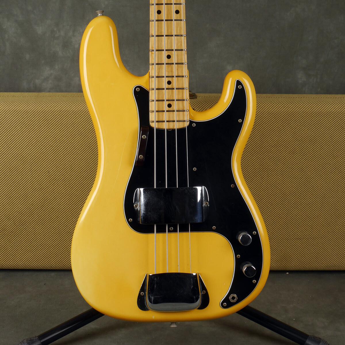 Fender 1973 Precision Bass - White w/Hard Case - 2nd Hand