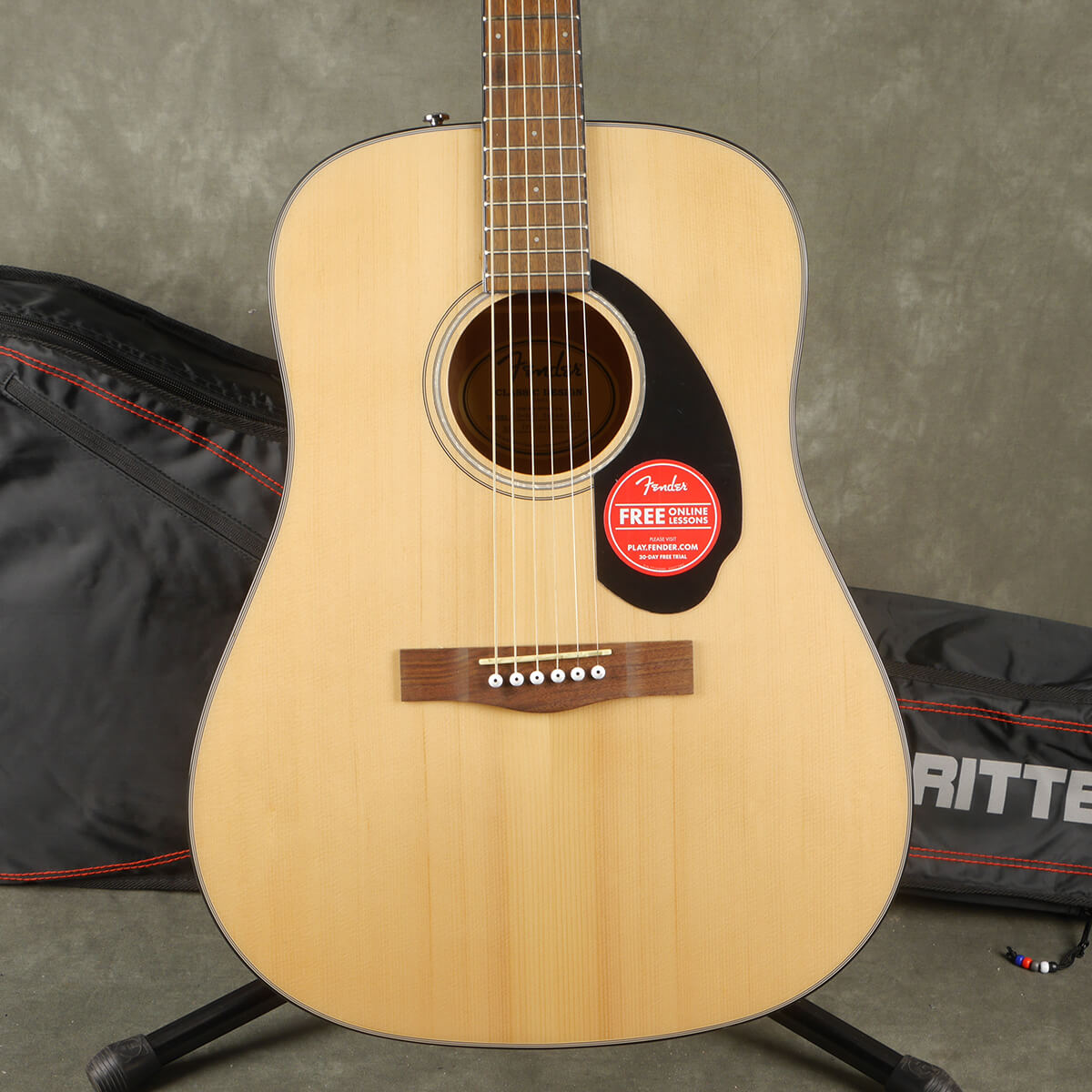 Fender CD-60S Acoustic Guitar - Natural w/Gig Bag - 2nd Hand