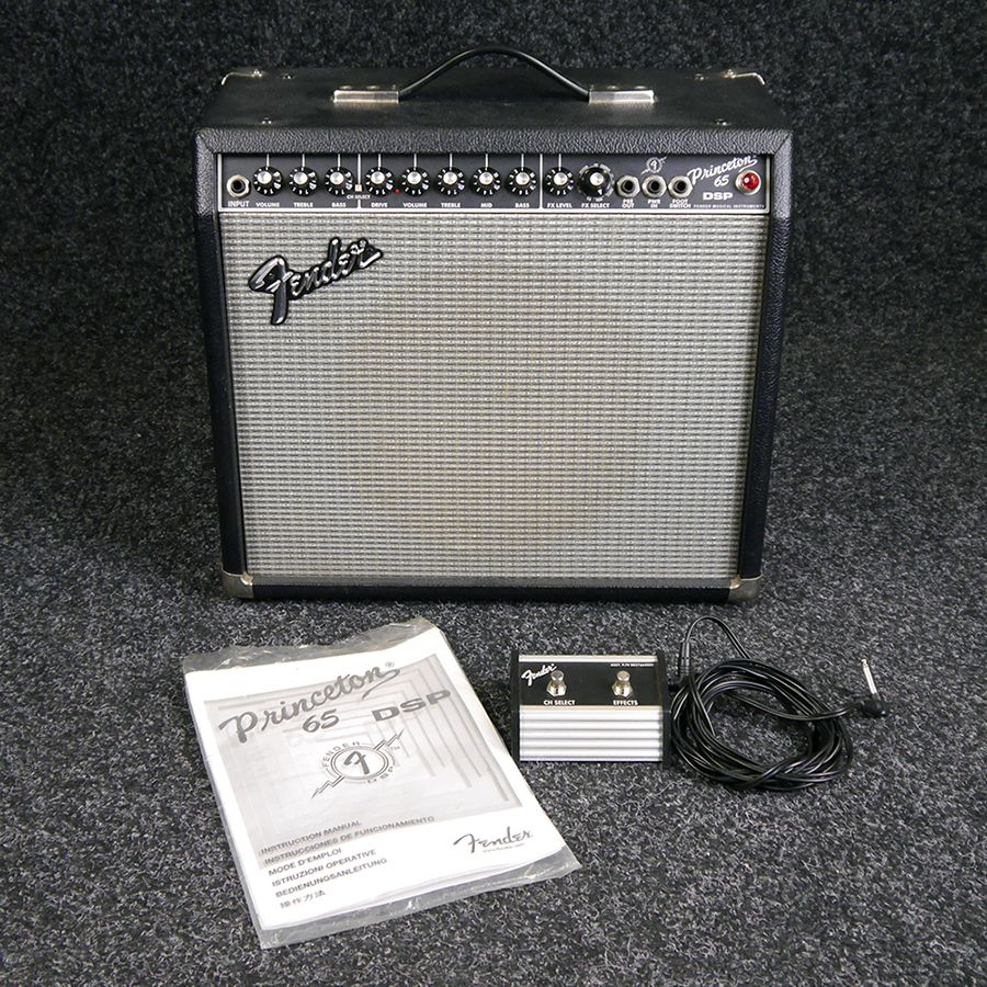 fender princeton 65 dsp guitar amp w footswitch 2nd hand rich tone music. Black Bedroom Furniture Sets. Home Design Ideas