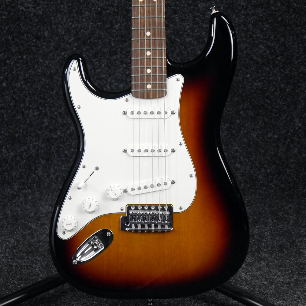 Fender Standard Stratocaster, Rosewood, Left Hand - Sunburst - 2nd Hand