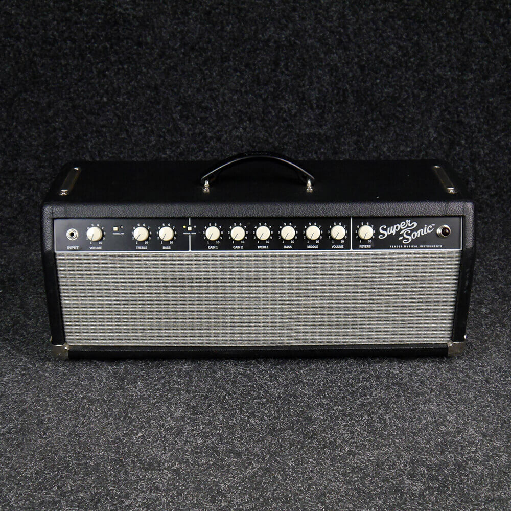 fender super sonic 22 amplifier head black 2nd hand collection only rich tone music. Black Bedroom Furniture Sets. Home Design Ideas