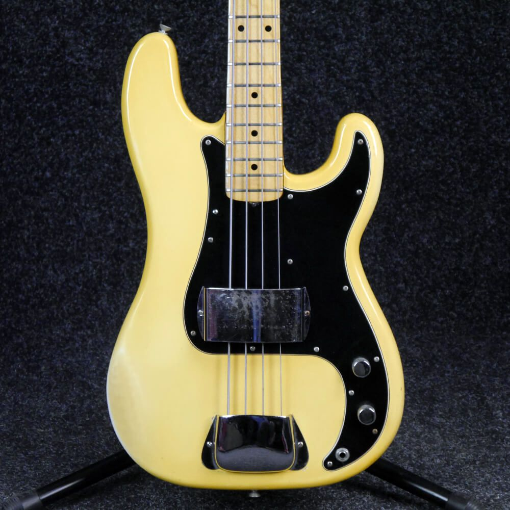 fender 1977 precision bass mn vintage white 2nd hand rich tone music. Black Bedroom Furniture Sets. Home Design Ideas