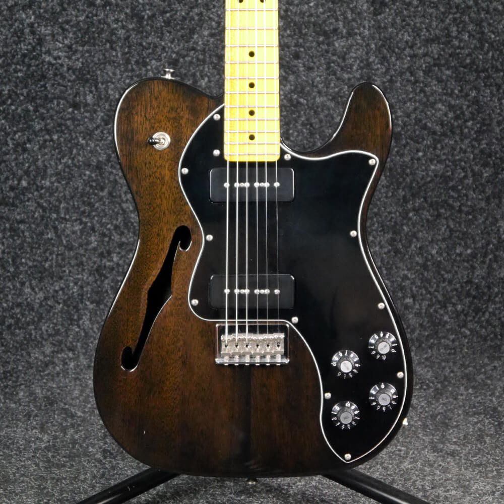 fender modern player telecaster thinline deluxe charcoal 2nd hand rich tone music. Black Bedroom Furniture Sets. Home Design Ideas