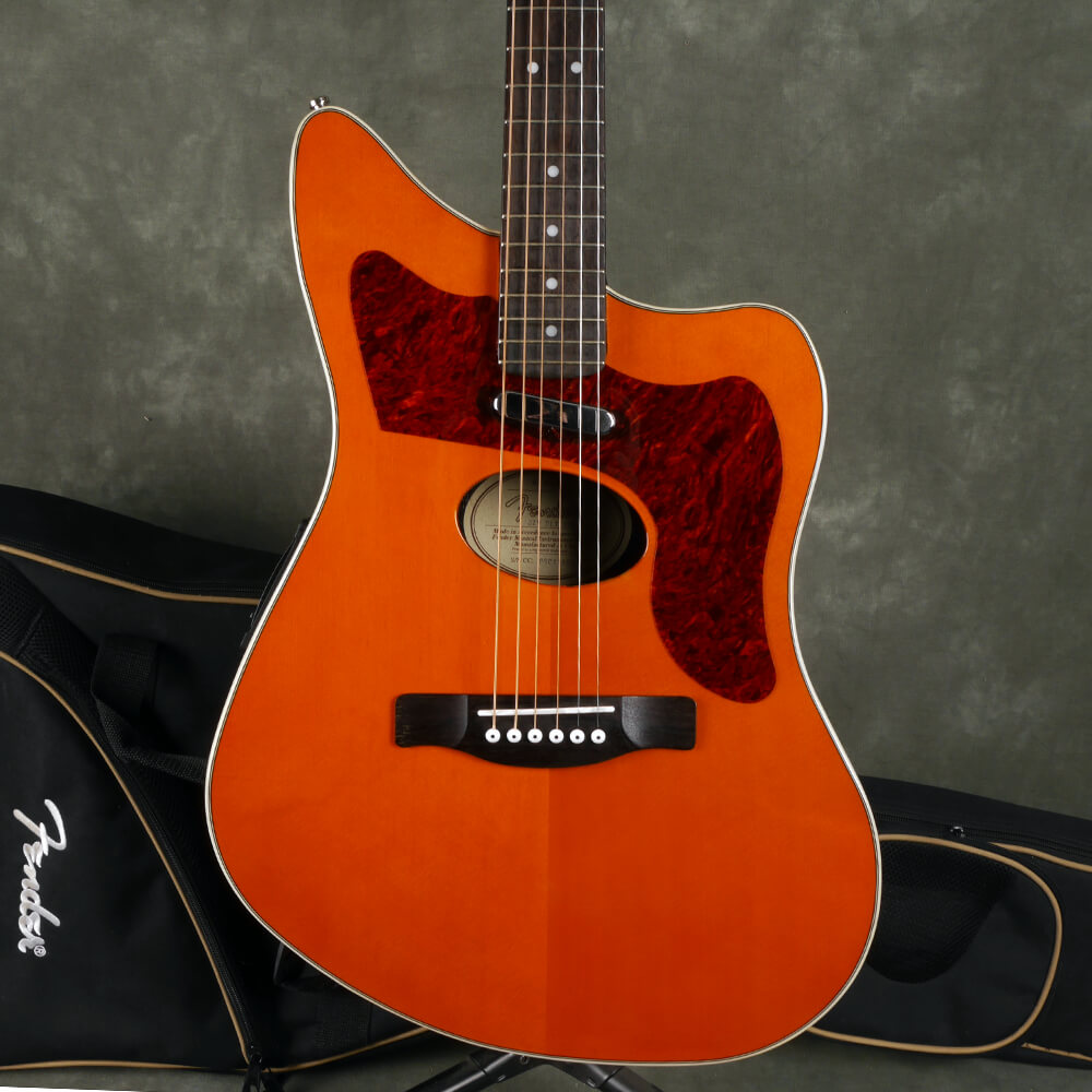 Fender JZM Deluxe Electro-Acoustic - Trans Amber w/Gig Bag - 2nd Hand