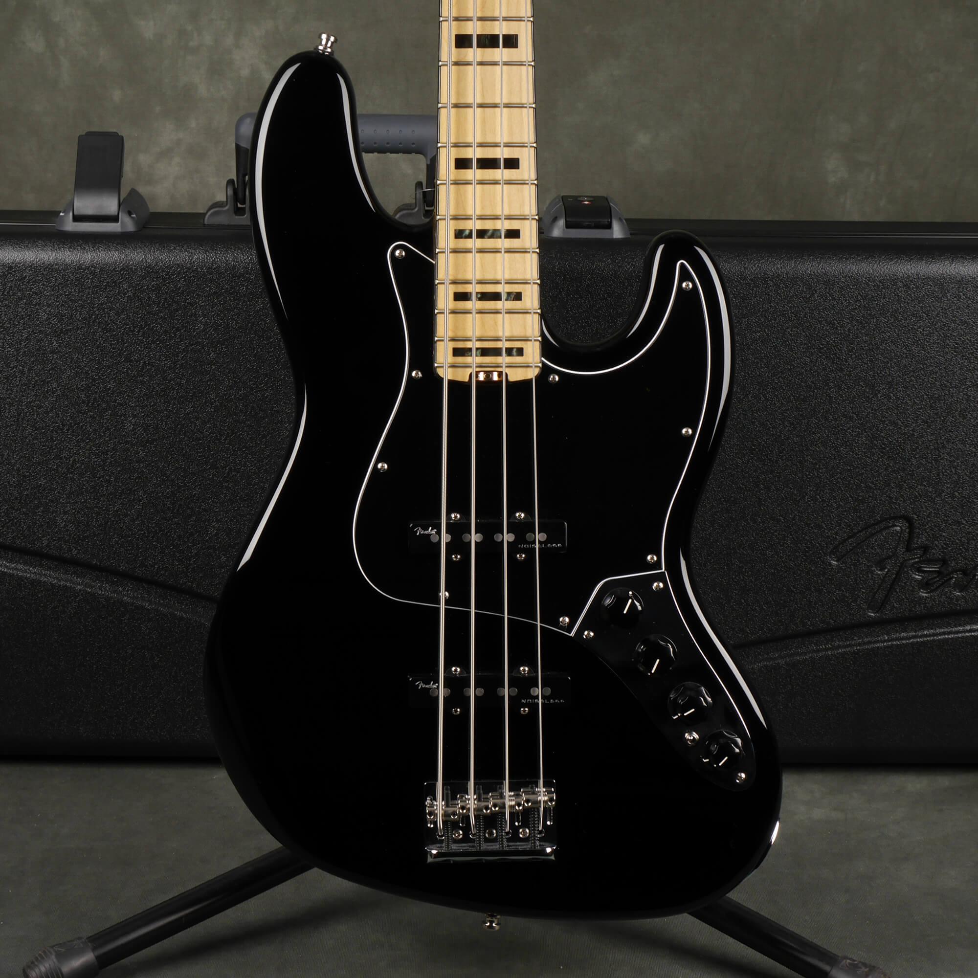 Fender American Elite Jazz Bass - Black w/Hard Case - 2nd Hand