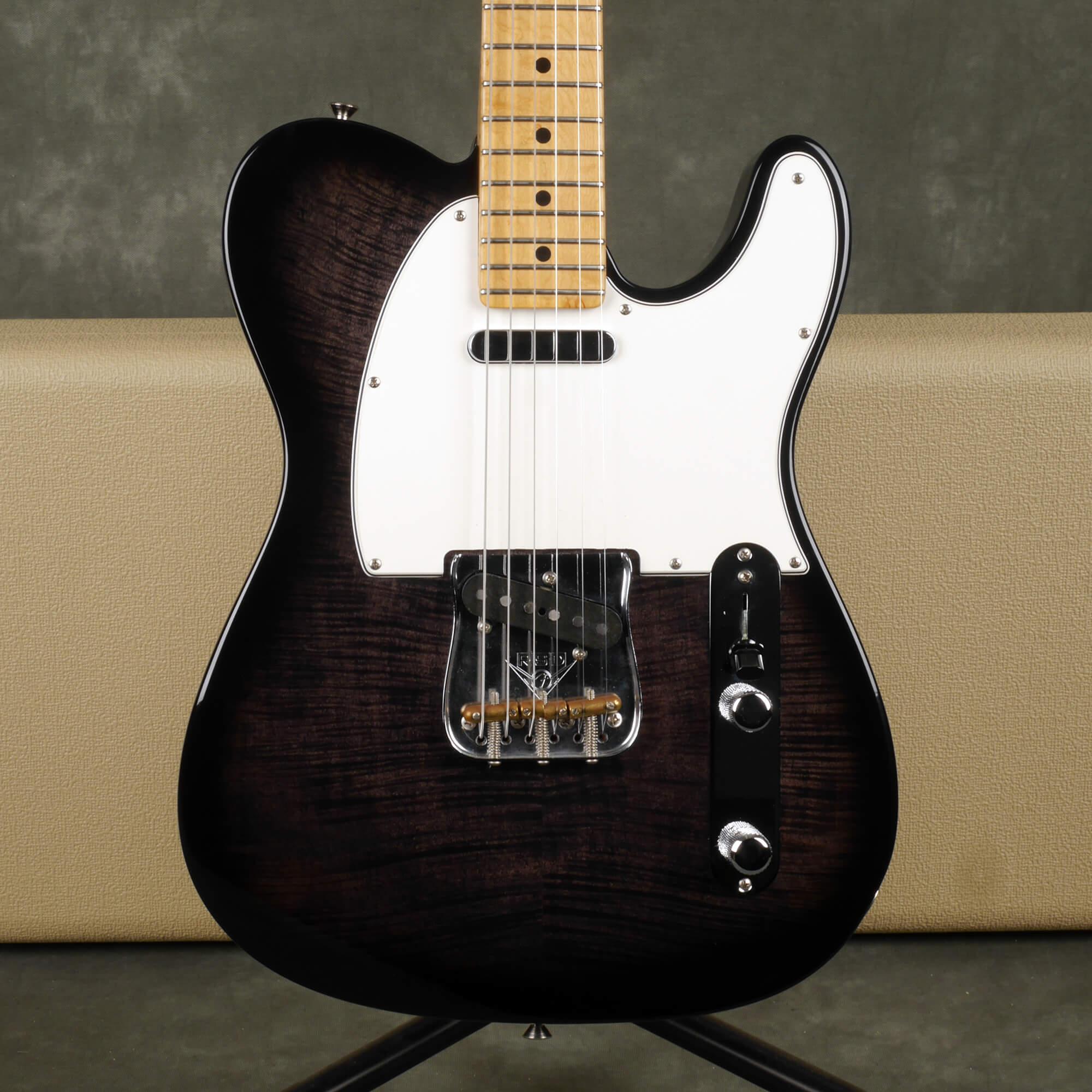 Fender Custom Shop Custom Deluxe Telecaster - Trans Ebony w/Hard Case - 2nd Hand