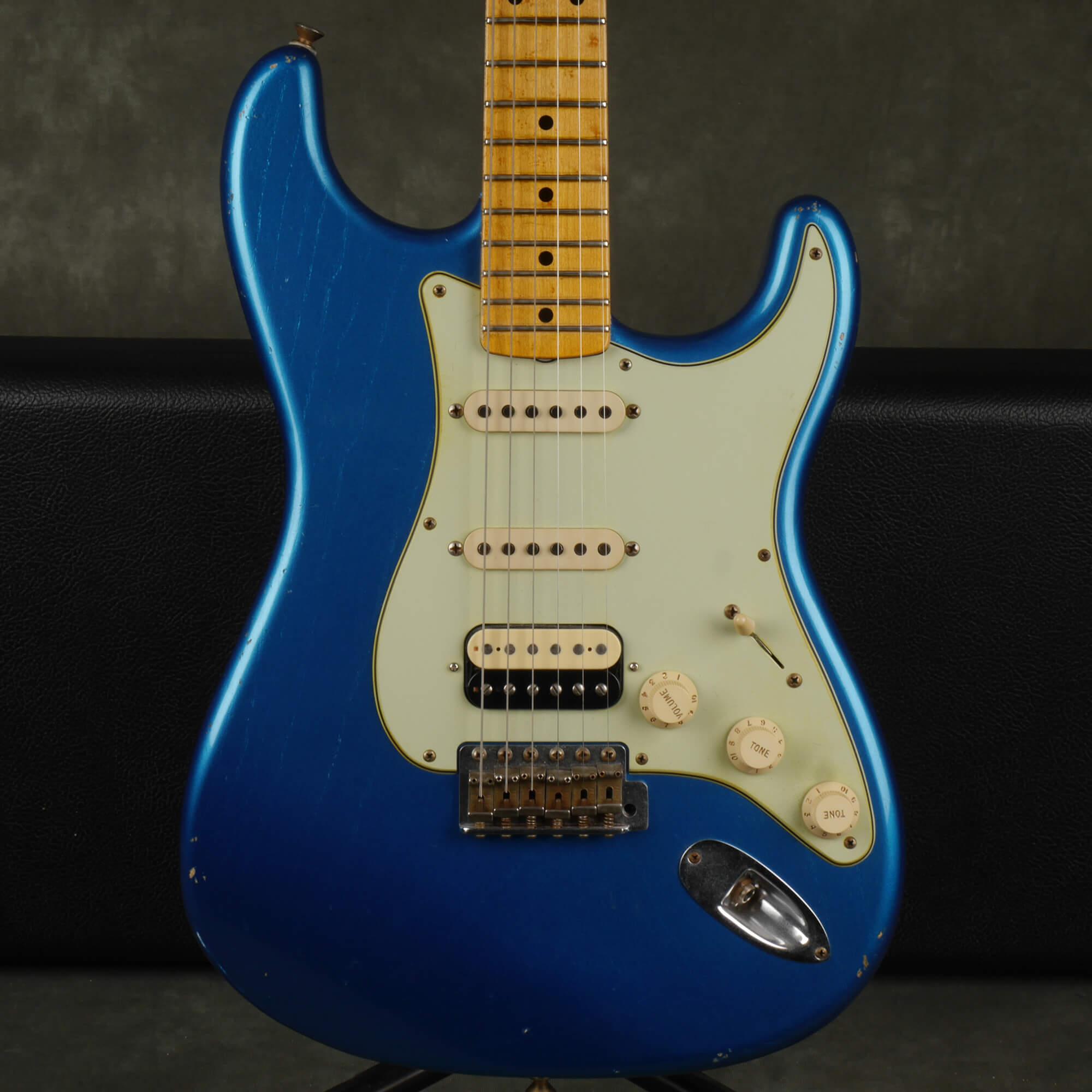 Fender Custom Shop HSS Stratocaster Electric Guitar - Blue w/Case - 2nd Hand