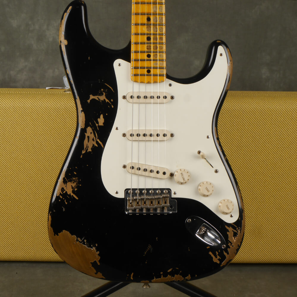 Fender Custom Shop 1956 Heavy Relic Stratocaster - Black w/Hard Case - 2nd Hand