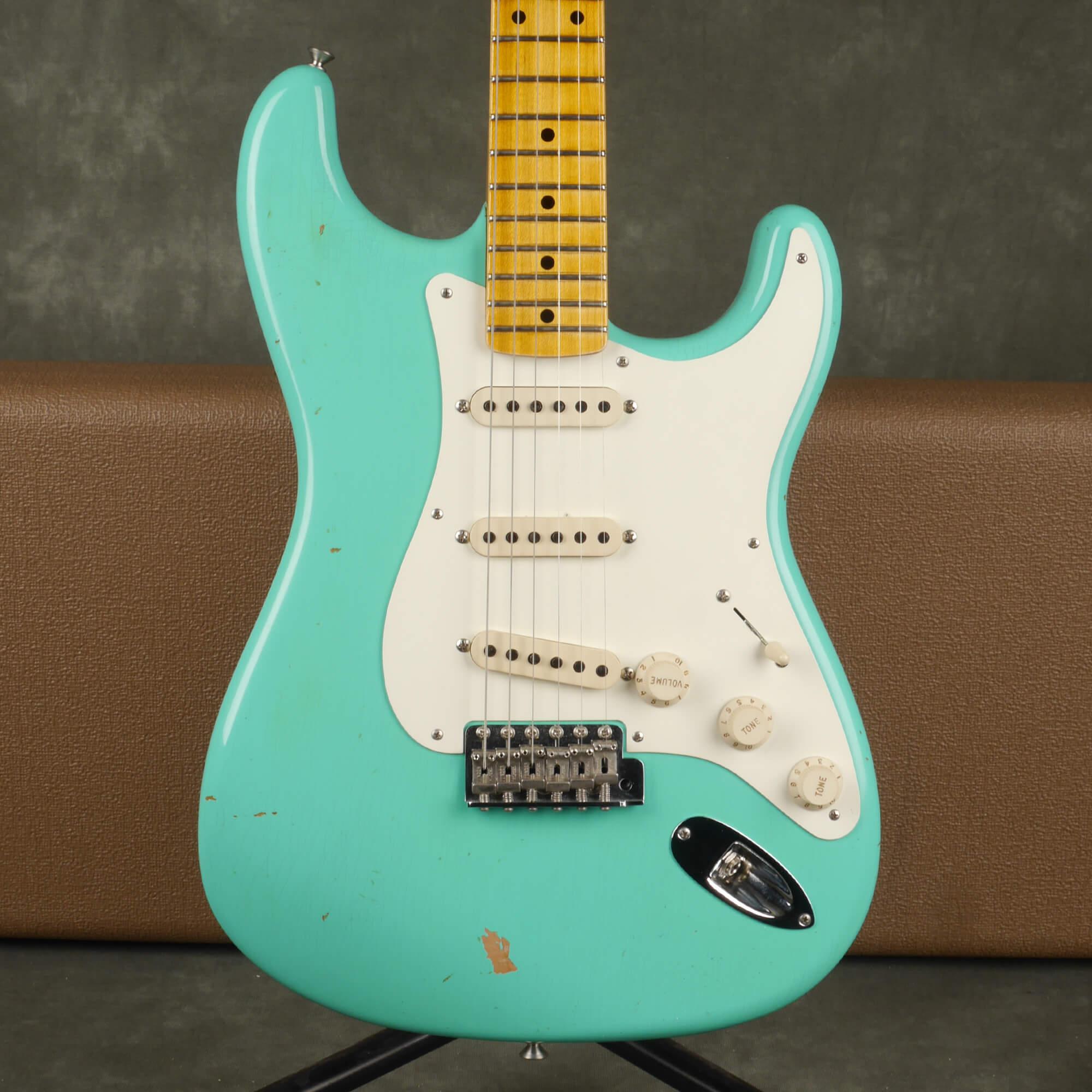 Fender Custom Shop 57 Stratocaster, Relic - Sea Foam Green w/Case - 2nd Hand