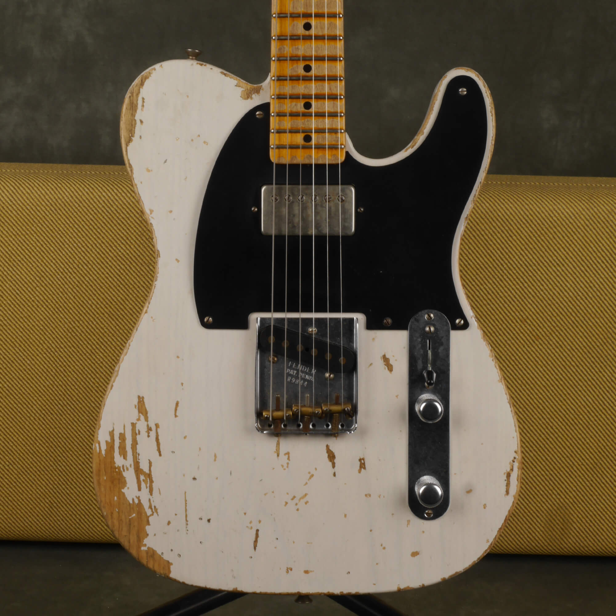 Fender Custom Shop Telecaster Electric Guitar, Relic - White w/Case - 2nd Hand
