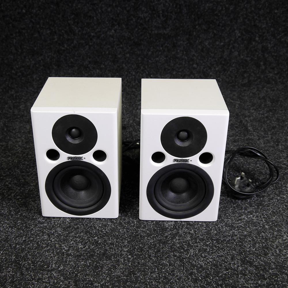 Fostex PM0.4 Studio Monitor, Pair - White - 2nd Hand