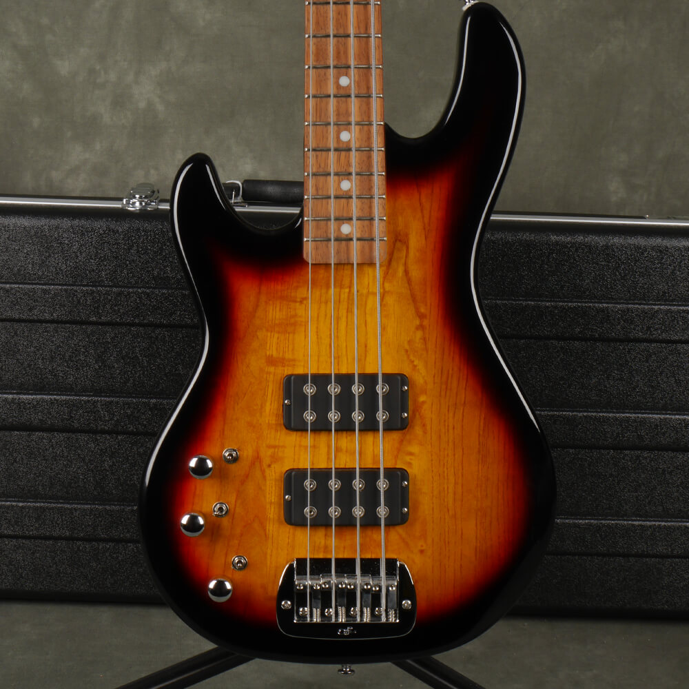 G&L Tribute Series L-2000 Bass Guitar, Left Handed - Sunburst w/Case - 2nd Hand