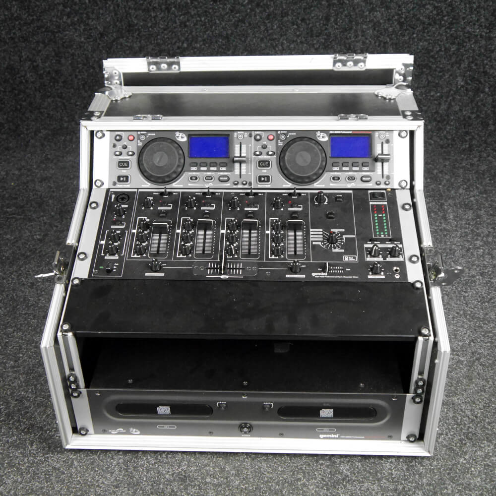 Gemini CDX2500 And MM400 CD DJ Set w/Flight Case - 2nd Hand