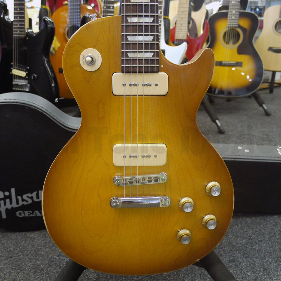 gibson les paul 60s tribute p90 honey burst w case 2nd. Black Bedroom Furniture Sets. Home Design Ideas