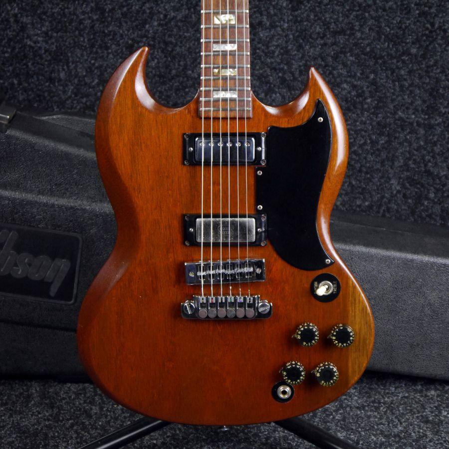 Gibson 1974 SG Deluxe - Worn Brown w/ Hard Case - 2nd Hand