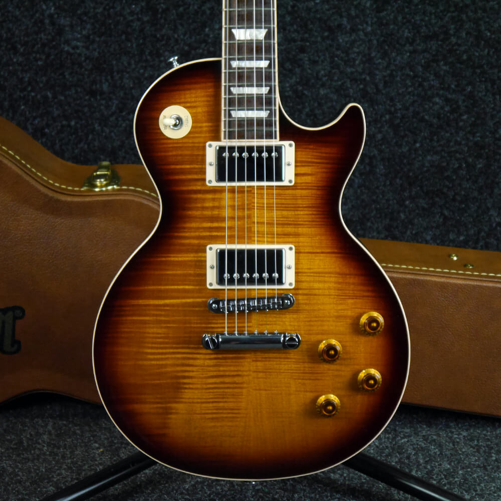 gibson les paul standard tobacco sunburst w hard case 2nd hand rich tone music. Black Bedroom Furniture Sets. Home Design Ideas