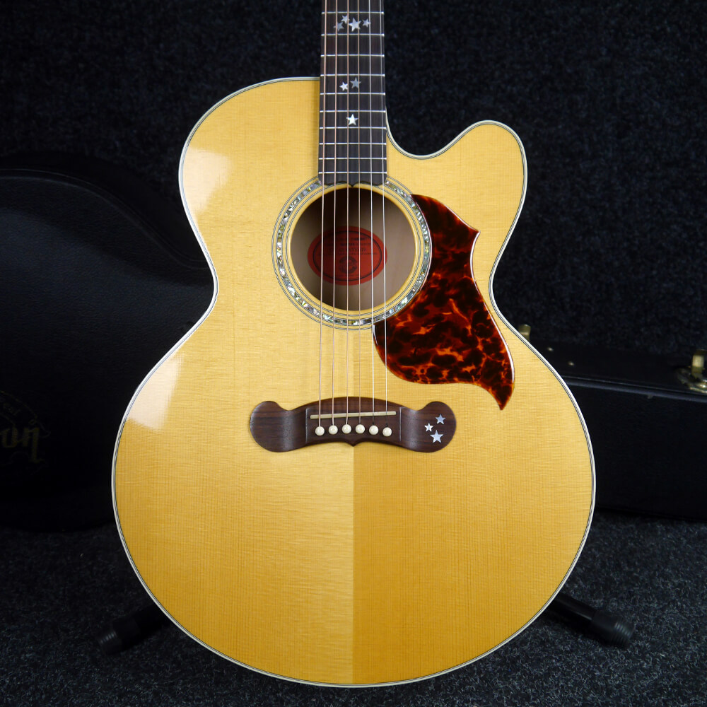Gibson EC20 Ltd Starburst Electro-Acoustic Guitar - Natural w/Case - 2nd Hand
