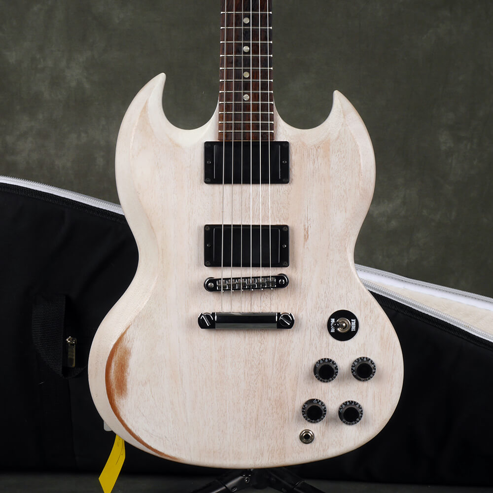 Gibson SGJ Electric Guitar - Worn White w/Gig Bag - 2nd Hand