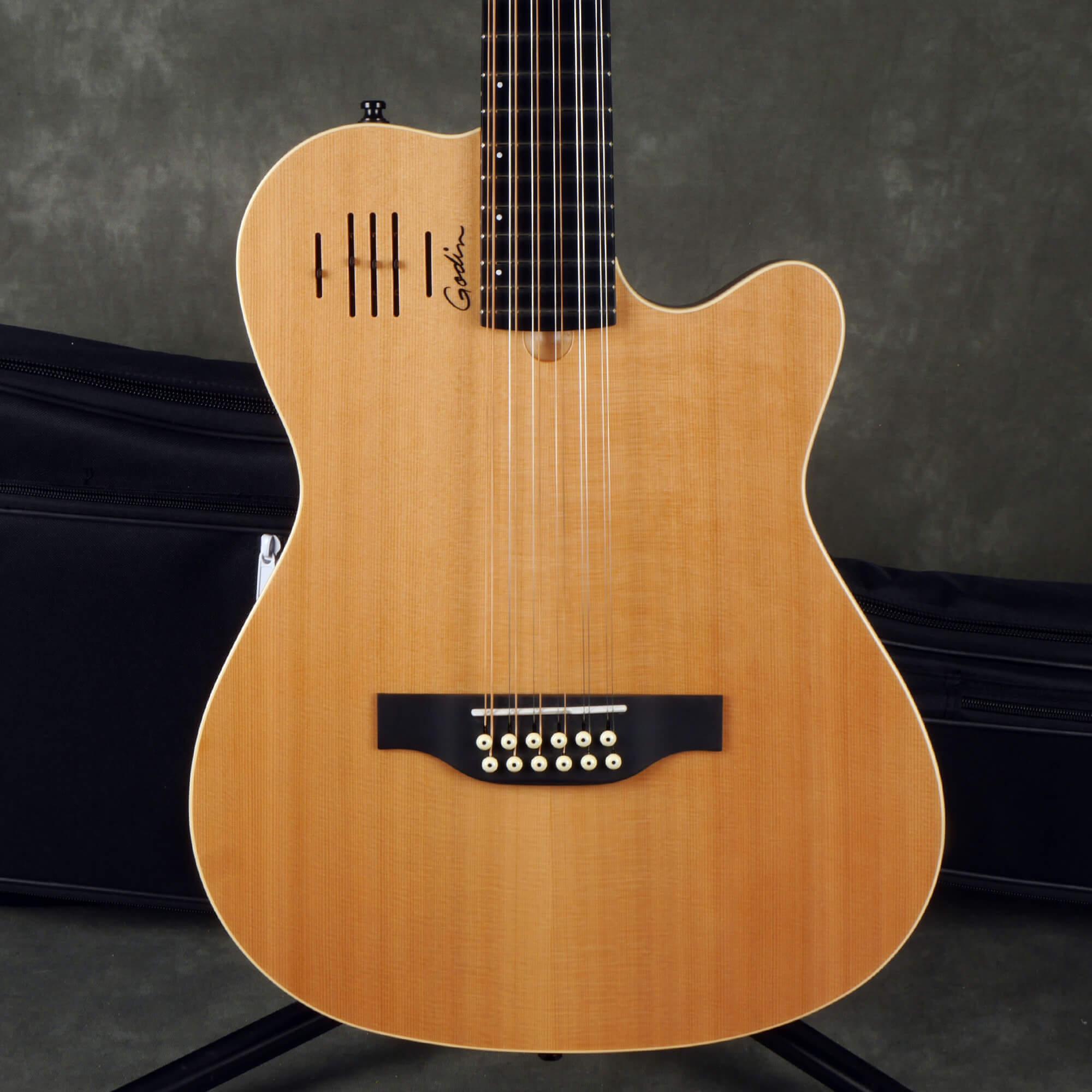 Godin A12 Natural SG 12-String Electric Guitar w/Gig Bag - 2nd Hand