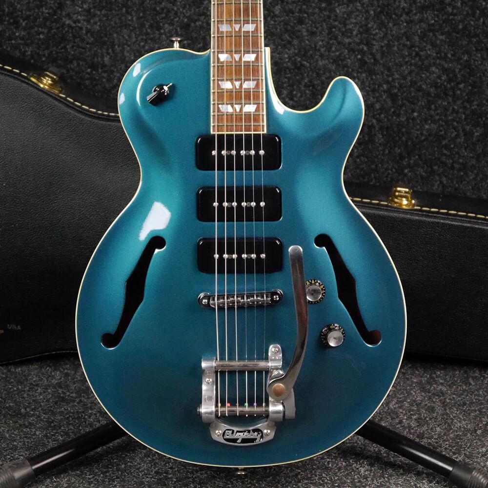 Hamer Monaco III Semi Hollow Guitar - Ocean Turquoise w/Hard Case - 2nd Hand