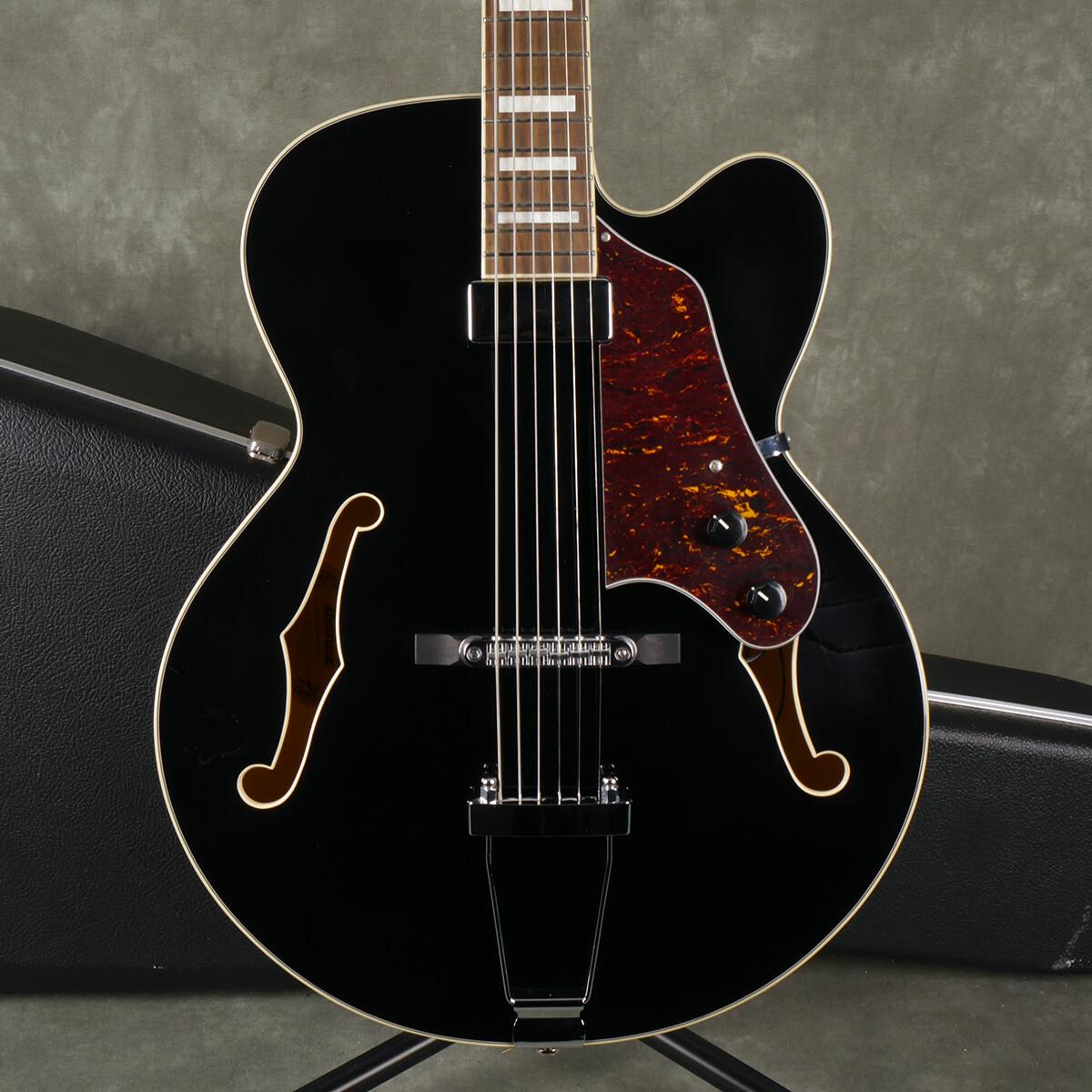 Ibanez FA71 Jazz Guitar - Black w/Hard Case - 2nd Hand