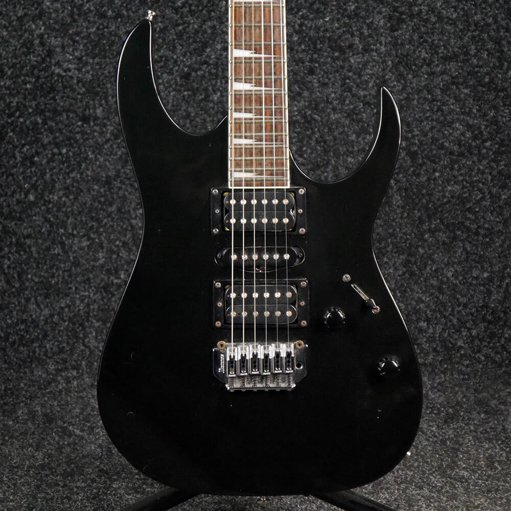 ibanez gio rg170dx electric guitar black 2nd hand rich tone music. Black Bedroom Furniture Sets. Home Design Ideas