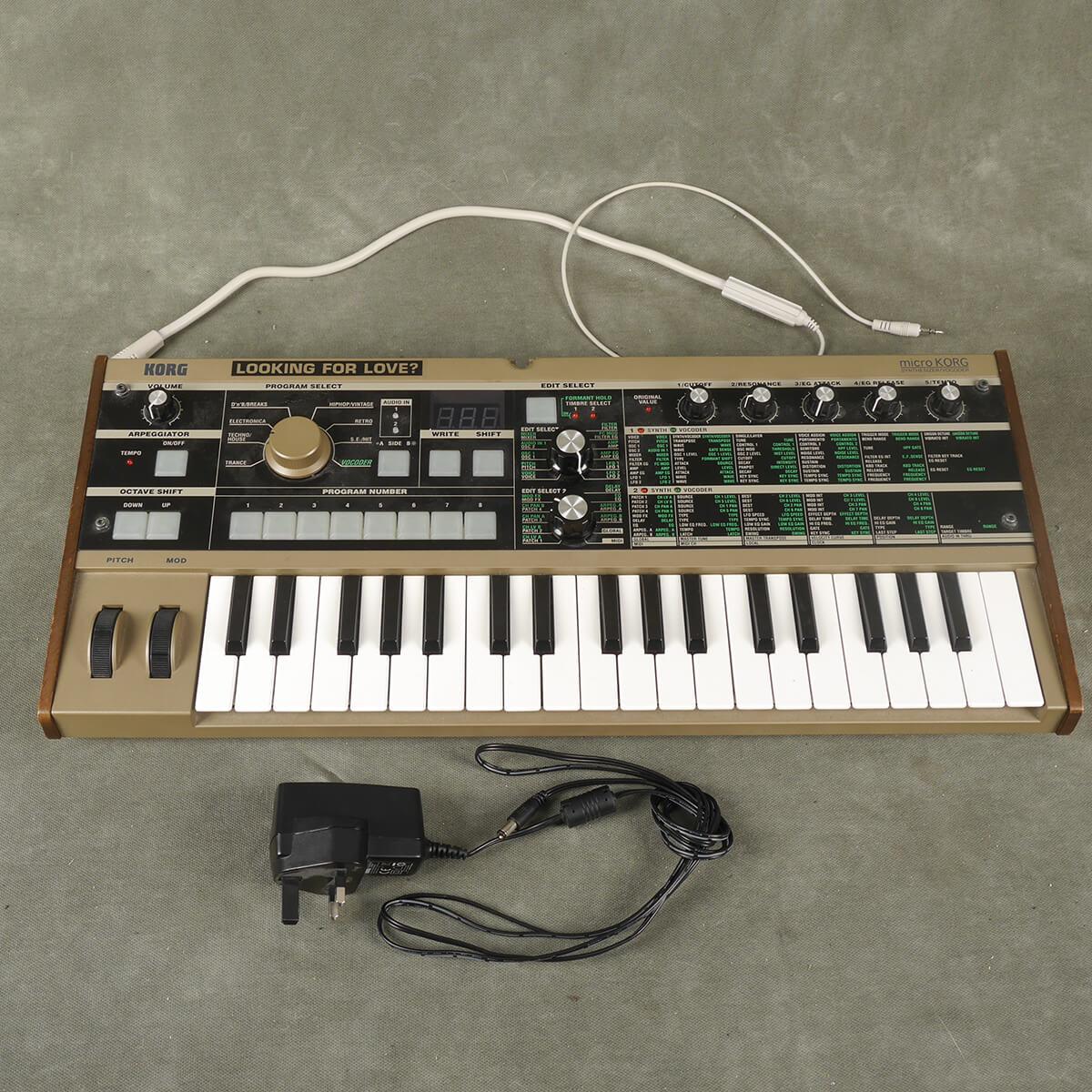 Korg Micro Korg Synthesizer w/PSU & Gooseneck Mic - 2nd Hand