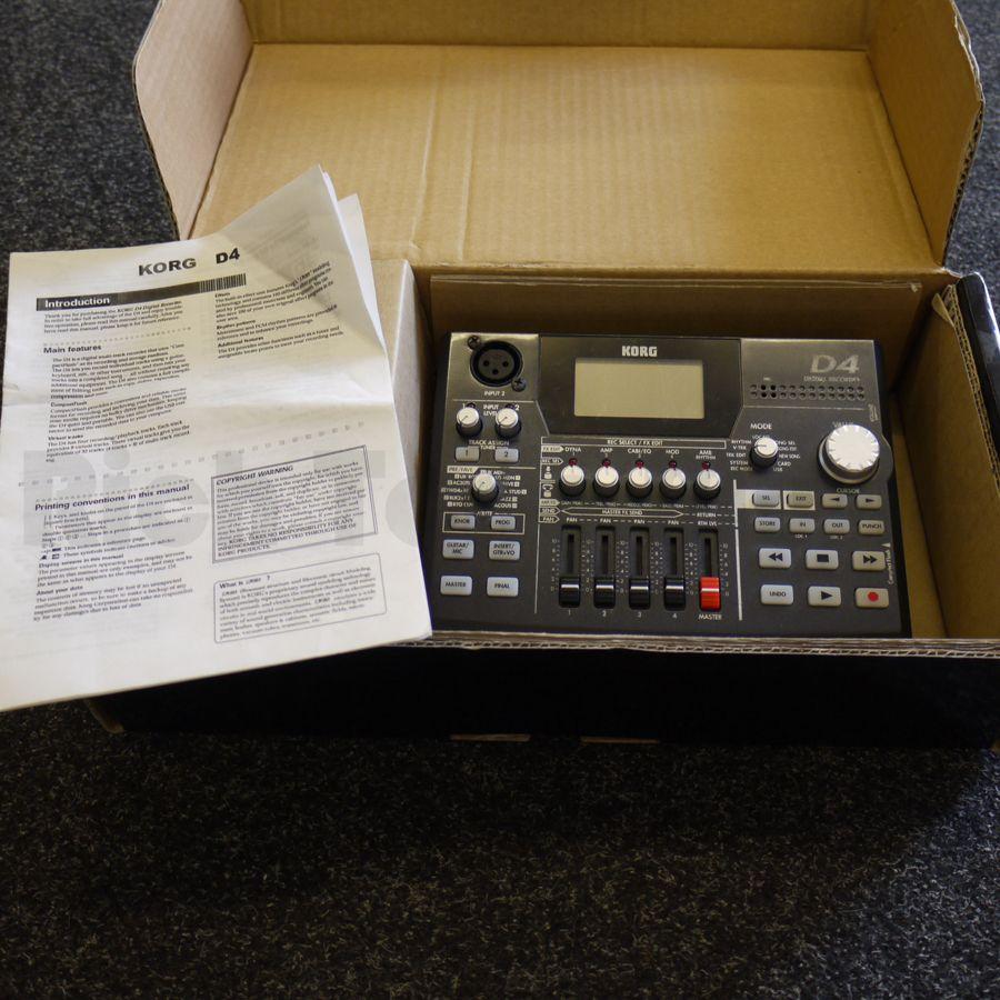 korg d4 digital recorder 2nd hand rich tone music. Black Bedroom Furniture Sets. Home Design Ideas