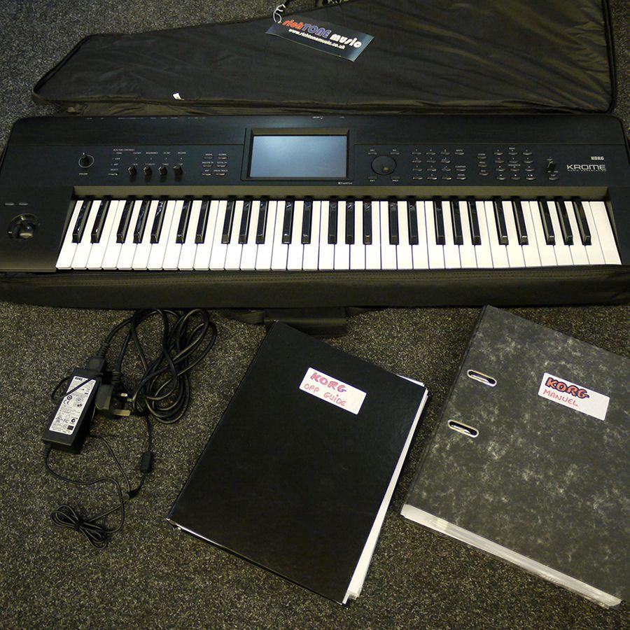 korg krome 61 music workstation w gig bag 2nd hand rich tone music. Black Bedroom Furniture Sets. Home Design Ideas